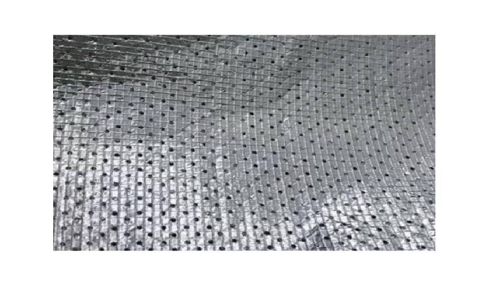 018打孔双层加强网格铝箔